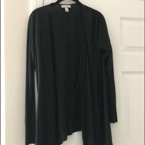 Black long sleeve maternity cardigan